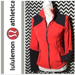 Lululemon red zip up jacket
